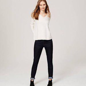 Loft Curvy Skinny Jeans Dark Rinse Wash